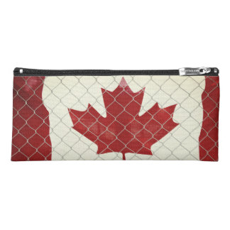 Canadian Flag. Chain Link Fence. Rustic. Cool. Pencil Case