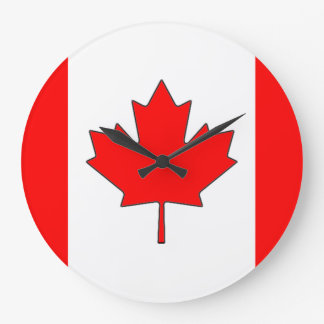 Canadian Flag Clock