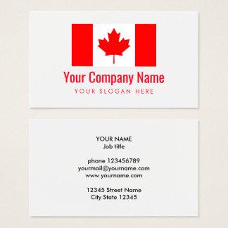 Canadian flag company logo business card template