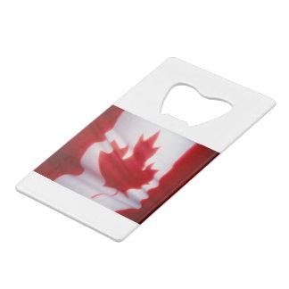 CANADIAN FLAG CREDIT CARD BOTTLE OPENER