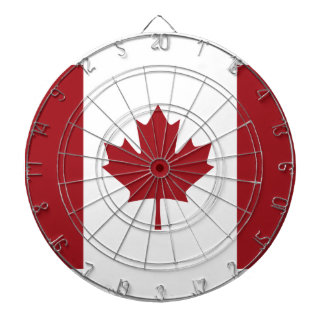 Canadian flag dartboard