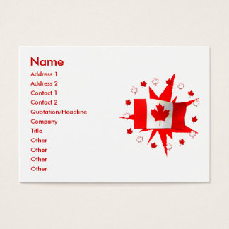Canadian flags business cards and business card templates for Business cards canada
