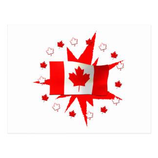 Canadian Flag Design Postcard