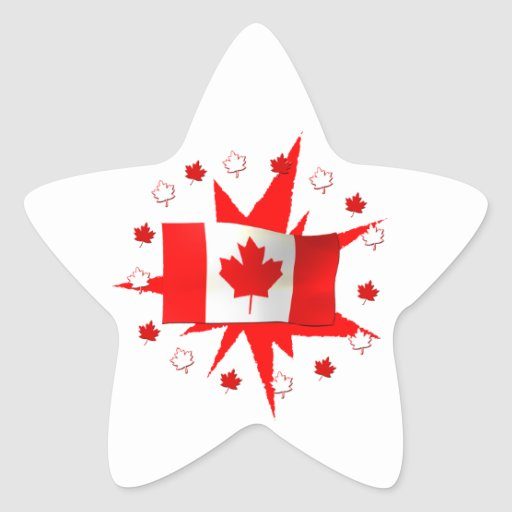 Canadian Flag Design Stickers