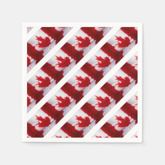 CANADIAN FLAG DISPOSABLE NAPKINS