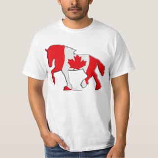 Canadian Flag Draft Horse T-Shirt