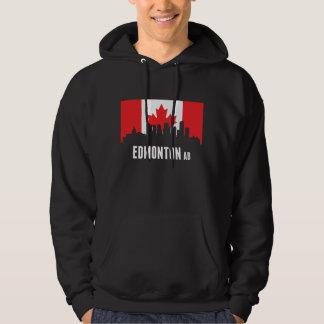 Canadian Flag Edmonton Skyline Hoodie