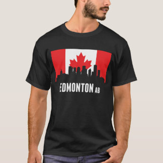 Canadian Flag Edmonton Skyline T-Shirt