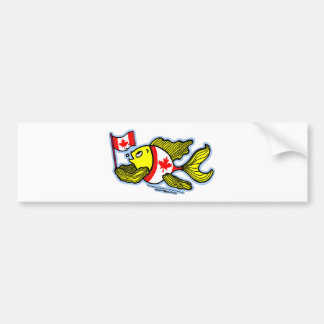 Canadian Flag Fish Bumper Sticker