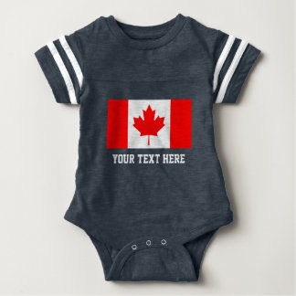 Canadian flag football jersey baby bodysuit outfit