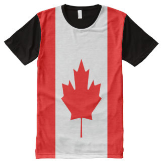 Canadian Flag full All-Over-Print T-Shirt