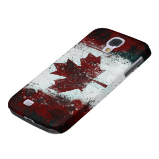 Canadian Flag grunge paint Samsung Galaxy S4 Case