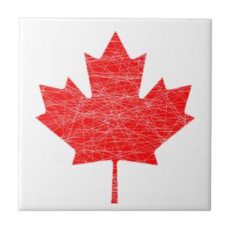 Canadian Flag Grunge Tile