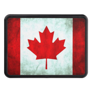 Canadian flag grunge trailer hitch cover
