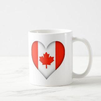 Canadian Flag Heart Coffee Mugs