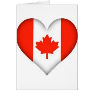 canadian flag heart design card
