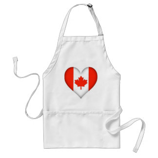 Canadian Flag Heart Standard Apron