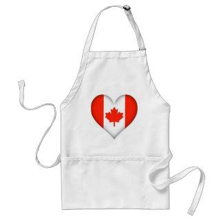 Canadian Flag Heart Standard Apron