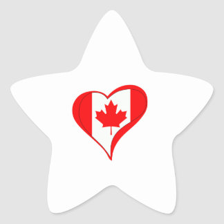 CANADIAN FLAG HEART STAR STICKERS