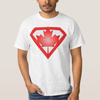 Canadian Flag Hero Shield, Canada Day shirt