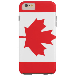 Canadian Flag in Red and White with Maple Leaf Tough iPhone 6 Plus Case