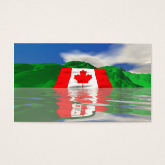 Canadian Flag Land - Business Size Business Card