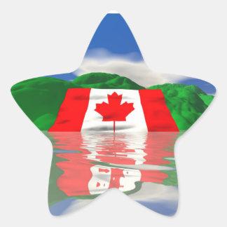 Canadian Flag Land Star Sticker