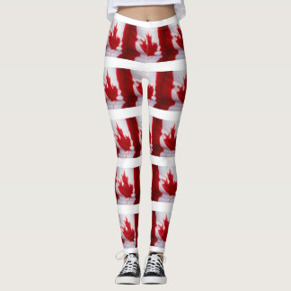 CANADIAN FLAG LEGGINGS