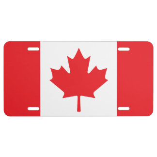 Canadian Flag License Plate