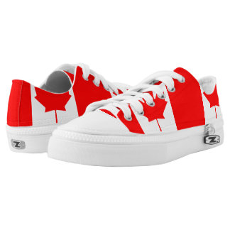 Canadian flag Low Top Shoes