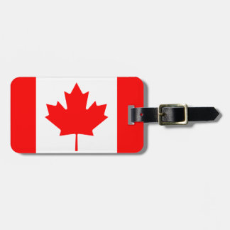 Canadian flag luggage tags for bags and suitcases