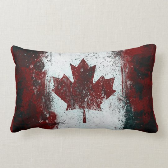 Canadian Flag Lumbar Pillow