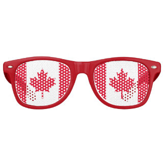 Canadian Flag Maple Leaf Red White Canada Party Shades
