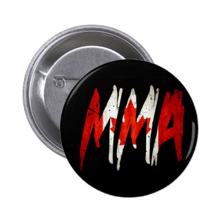 Canadian Flag MMA 2 Inch Round Button