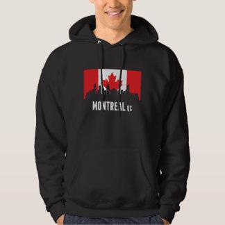 Canadian Flag Montreal Skyline Hoodie