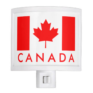 Canadian flag night light with custom text