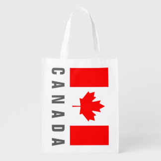 Canadian flag of Canada grocery shopping bag