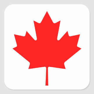 Canadian Flag of Canada Maple Leaf Square Sticker