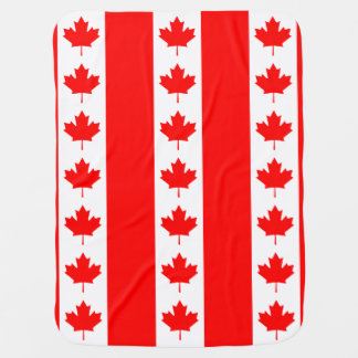 Canadian Flag of Canada Maple Leaf Swaddle Blankets
