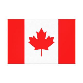 Canadian Flag of Canada Red Maple Leaf l'Unifolié Canvas Print