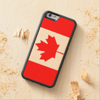 Canadian Flag of Canada Red Maple Leaf Wood Case Maple iPhone 6 Bumper