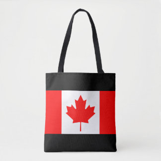 Canadian flag of Canada shopping tote bags