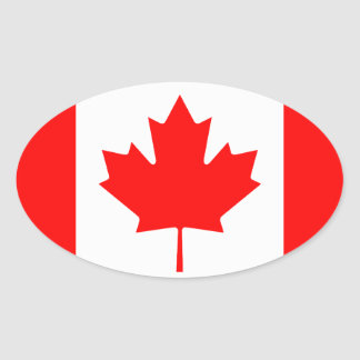 Canadian flag oval sticker | Flag of Canada