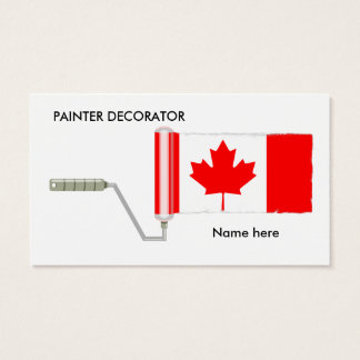 Canadian Flag Paint Roller Business Card
