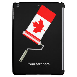 Canadian Flag Paint Roller iPad Air Covers