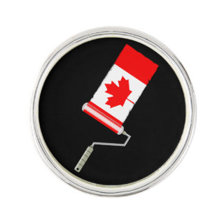Canadian Flag Paint Roller Lapel Pin