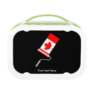 Canadian Flag Paint Roller Lunch Box