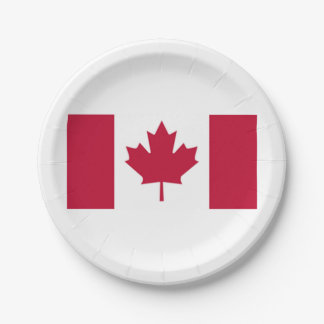 Canadian Flag Paper Plates 7 Inch Paper Plate