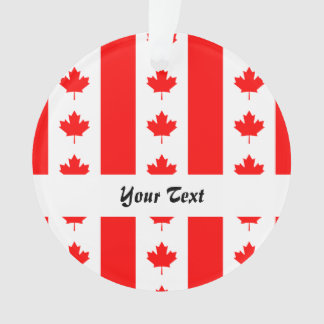 Canadian flag pattern