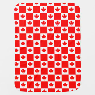 Canadian flag pattern baby blankets